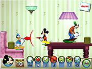 Игра Микки и друзья - Бои подушками игра