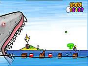играть в игру Игра Бешеная Акула