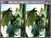 Игра Spot the Differences-Dragons
