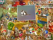 Игра Найти отличия - Кошки дома