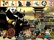Игра Кунг-фу Панда - найти предметы