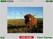 Игра Highland Cow Jigsaw