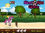 Игра Девочка на пони игра