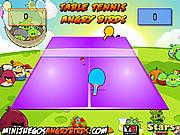 Игра Сердитые птицы: настольный теннис