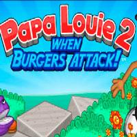 Игра Папа Луи бургеры атакуют
